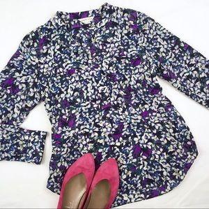 Rebecca Taylor Silk Floral Printed Blouse